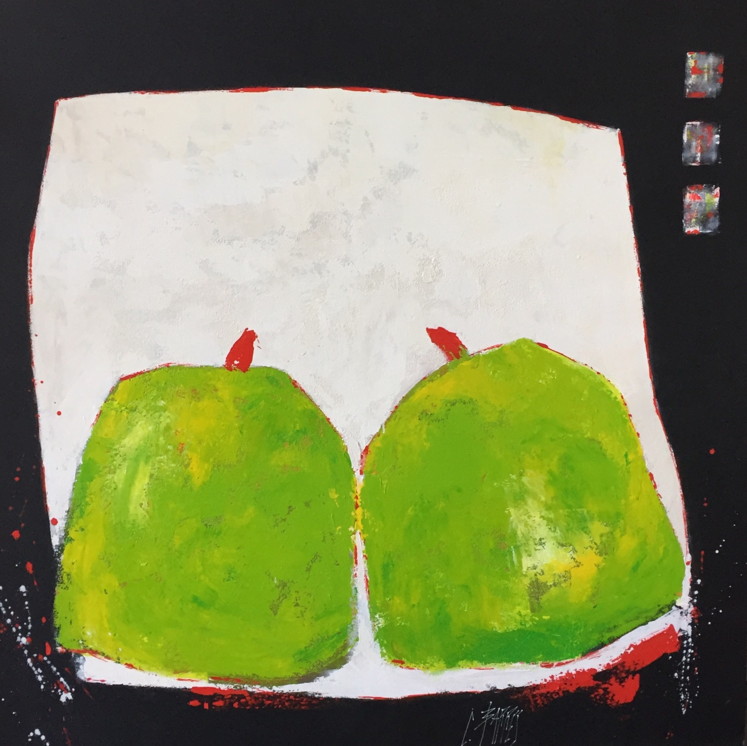 Christine Barrès - Série Fruits - Peinture Fruits