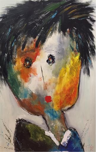 Christine Barrès - Collection Série Portraits - Camille 160x100 - Technique Mixte