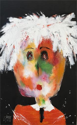 Christine Barrès - Collection Série Portraits - Marguerite 116x73 - Technique Mixte
