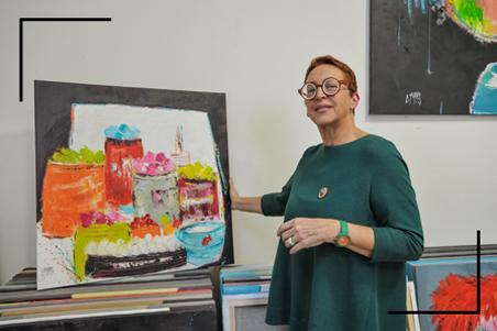 Christine Barrès - Femme & autodidacte - peinture