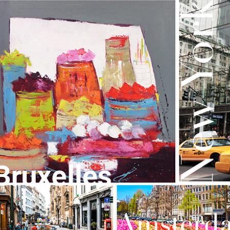 Christine Barrès - parcours Bruxelles, Amsterdam